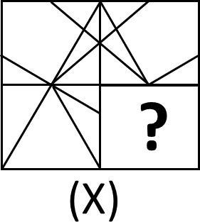 Image Shows Pattern of Square for Question