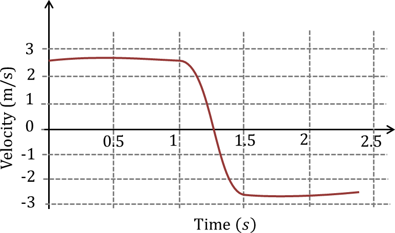 Charts of velocity as a function of time