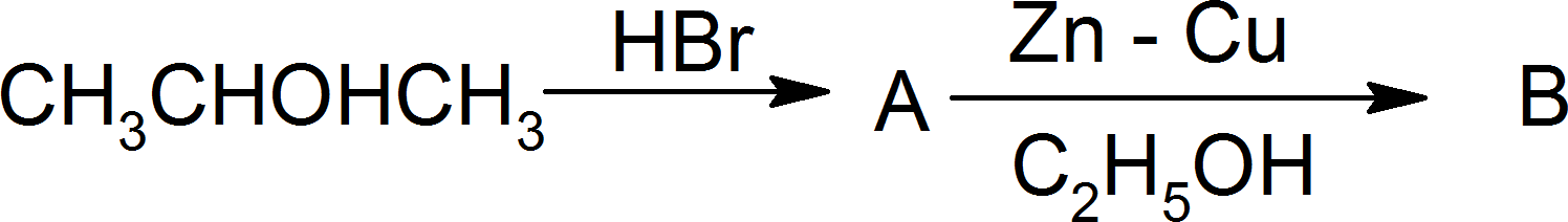Image of reaction with 2-propenol presence of HBr and Zn-Cu