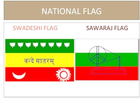 Swadeshi and Sawaraj Flag