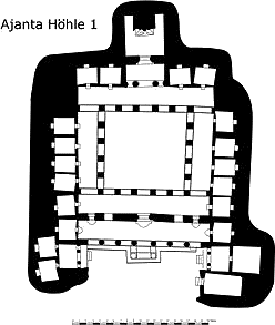 Plan I of Ajanta Cave