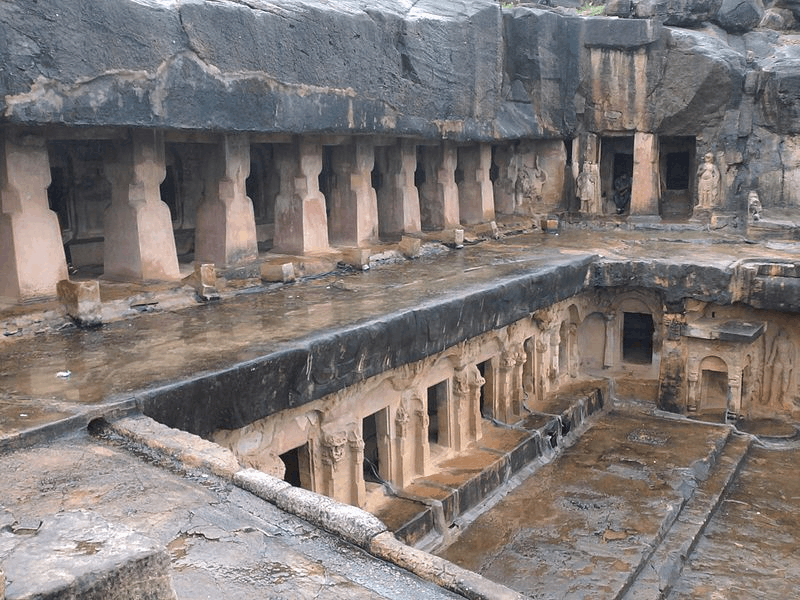 The Jain monks lived in Orissa cave.