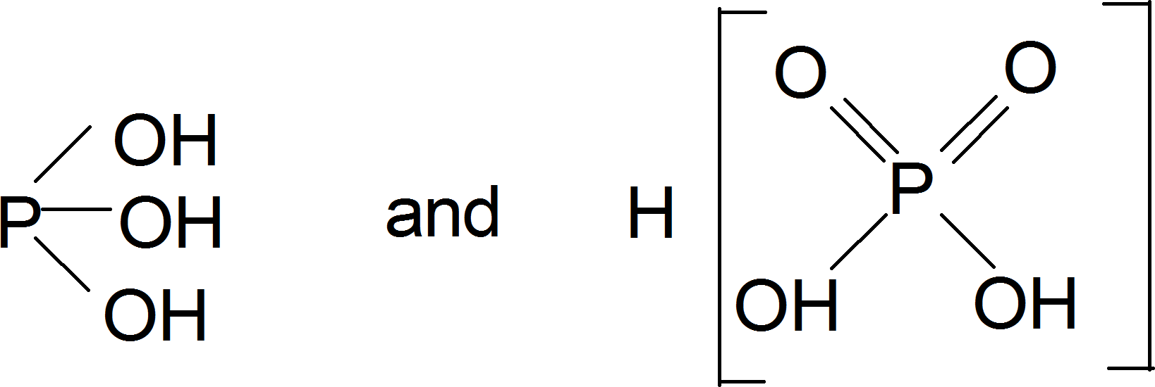 Two tautomeric forms of phosphorous acid : Choice C