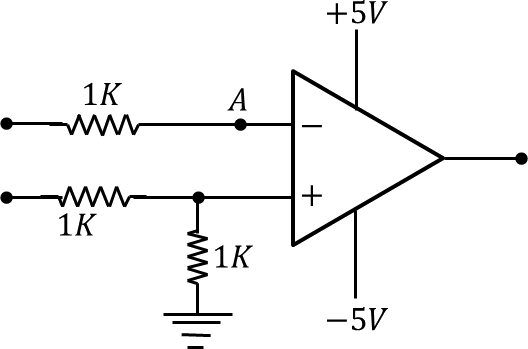 Image shows an operational amplifier circuit