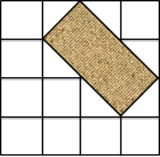 A geometric figure made with number of squares