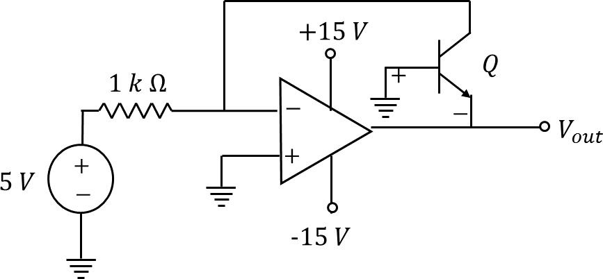 The circuit consisting an ideal OPAMPto find its output voltage