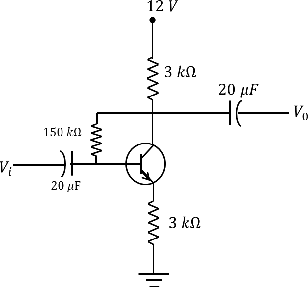 The circuit consists of transistor
