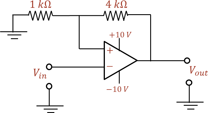 Circuit of an op – amp and two resistors