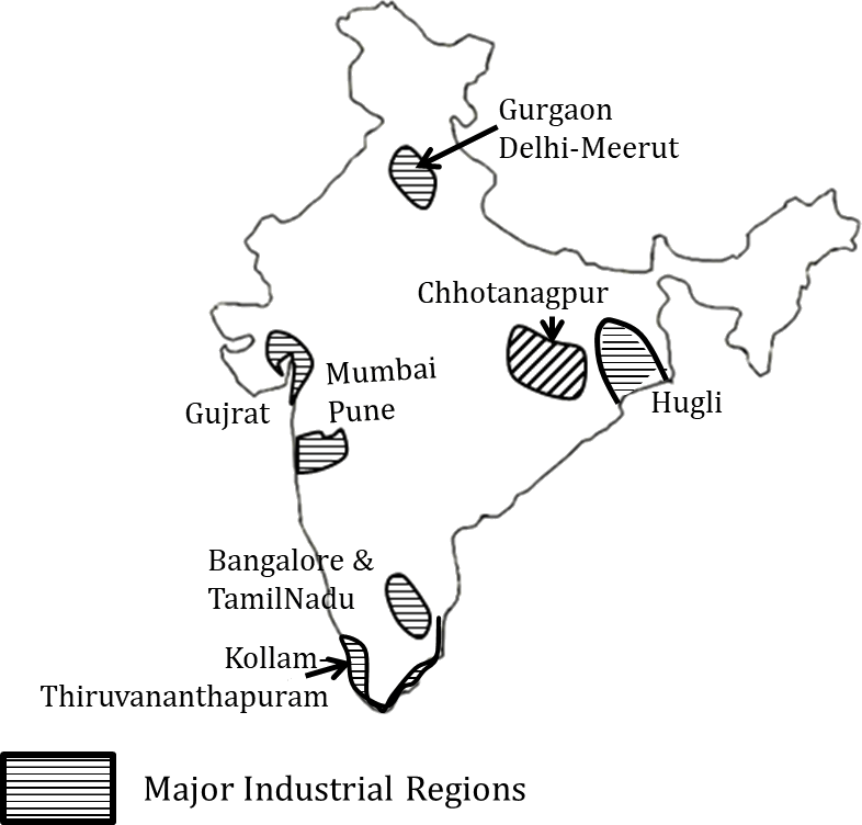 industrial map of india upsc Optionals Ias Mains Geography Industrial Regionalization Industry industrial map of india upsc