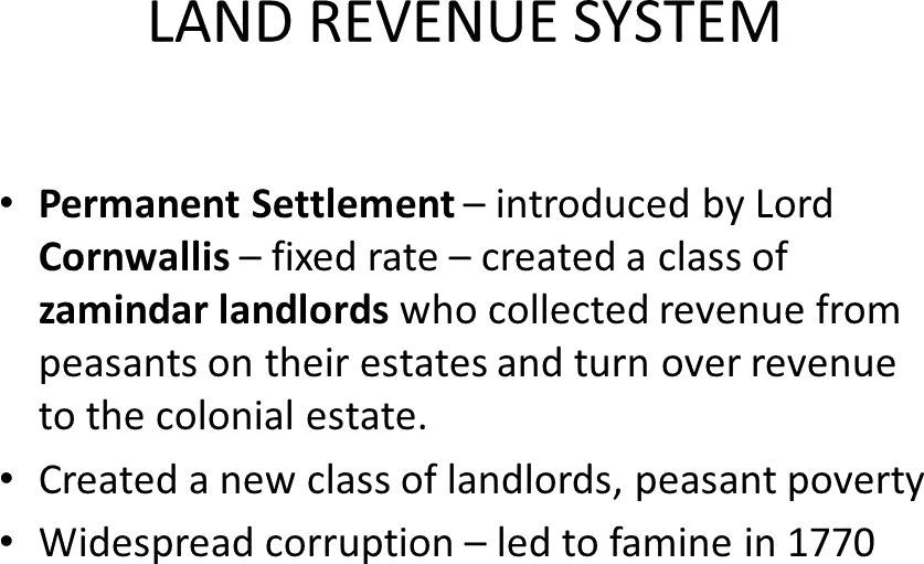 The Land Revenue System