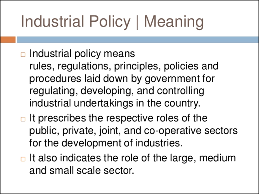 Image shows Theory of Industrial policy