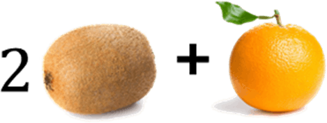 Image shows kiwi and orange