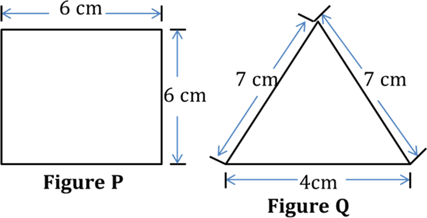 Diagram shows figure P and figure Q