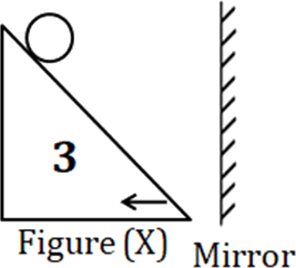 Image Of The Figure shows the mirror in left side of Figure (X)