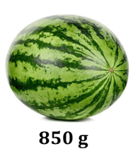 Image shows 850g watermelon