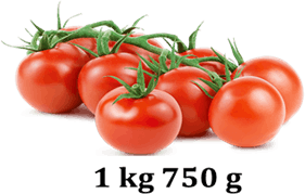 Image shows 1kg 750 g tomatoes