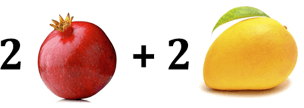 Image shows addition of pomegranate and mangoes