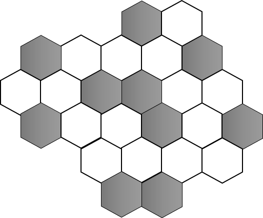 Image shows the shaded and unshaded hexagon.