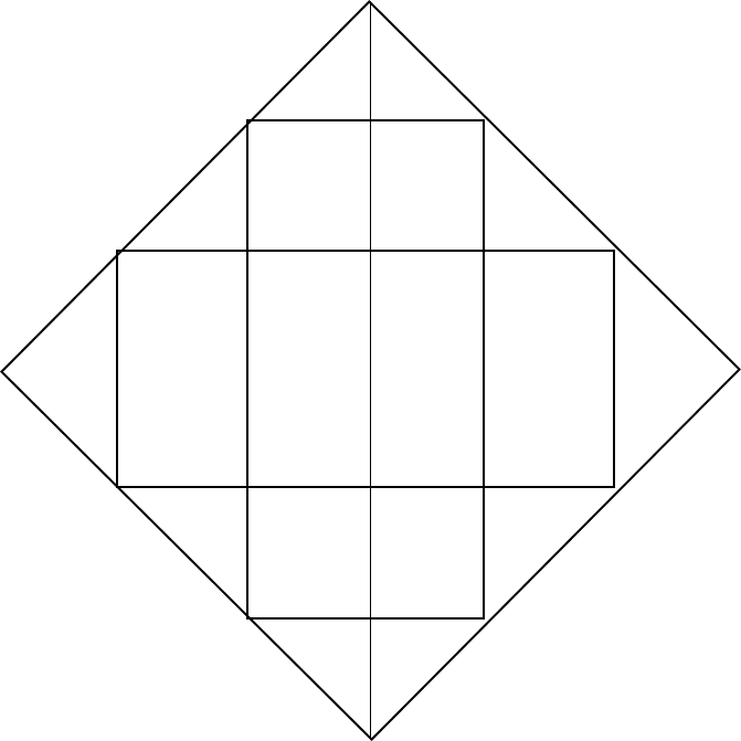 Image shows some triangle in square.