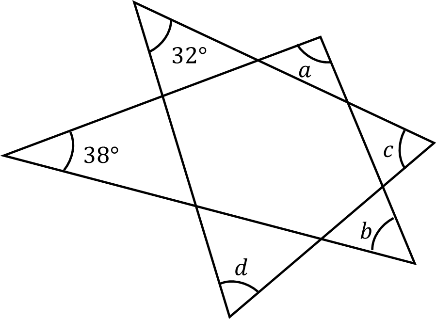 Image shows two triangles