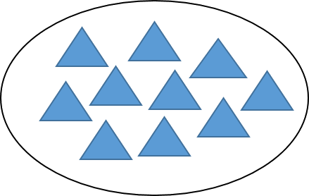 This figure shows triangles in the circle