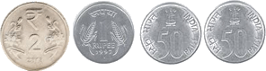 This set shows number of coins for Rs. 6– Choice B