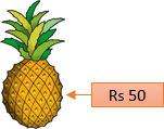 In this image shown the fruit with its cost – Choice D