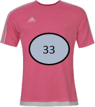 This image shows that the T – shirts with the number – Choice B