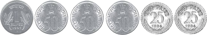 In this is set of coins image – choice C
