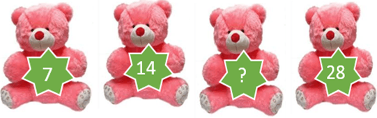 This diagram shows the teddy with number