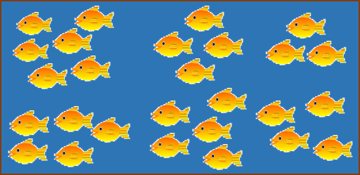 This image shows many fishes are there in above box