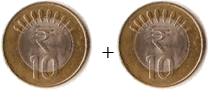 This coins show the addition between two coins – Choice A
