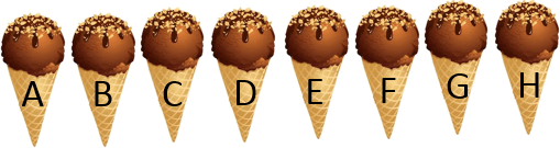 This image shown many ice – cream cones