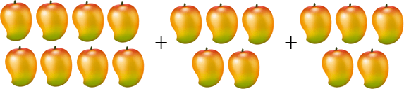 This image shows that the many mangoes
