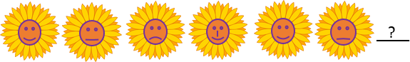 This figure shown the pattern of smiley sunflowers