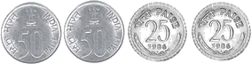 In this is set of coins image – choice D