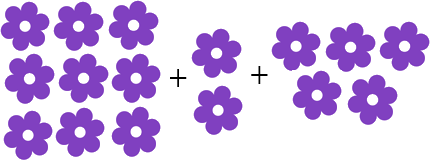 This image shows that the many flowers