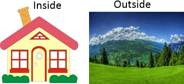 This image shown house and hills