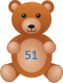 This image shows that the teddy bears with the number – ChoiceB
