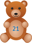 This image shows that the teddy bears with the number – ChoiceC