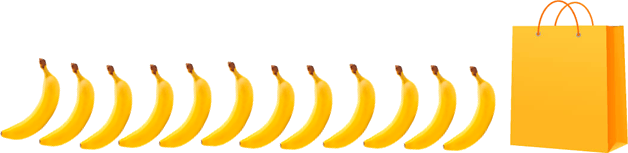 This image shows that the bananas and bag