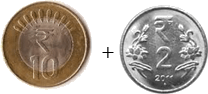 This image shown the addition between two coins – Choice C