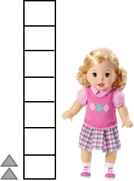 This picture shows the length of doll