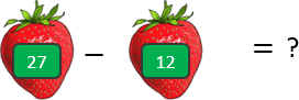 This image shows that the subtraction of strawberries