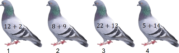 Figure shows arrange the given pigeons