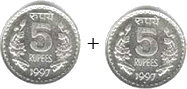 This image is addition of coins – Choice A