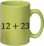 This image shows addition of numbers in mugs – Choice C