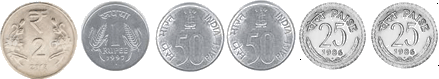 This set shows number of coins for Rs. 6– Choice A