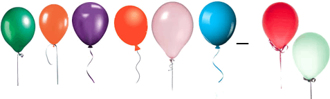 This diagram shows the balloons