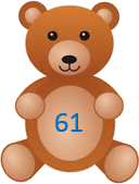 This image shows that the teddy bears with the number – ChoiceD